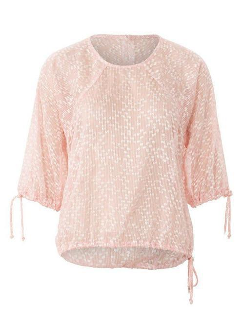 SPACE CUTTING BLOUSE WITH ROUND HEAD 3