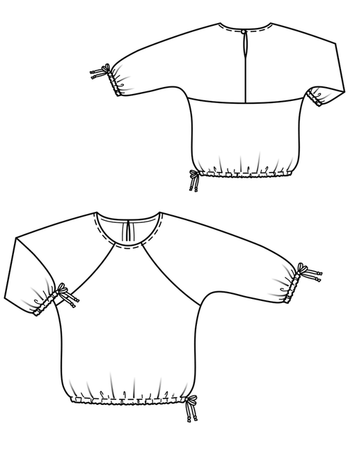 SPACE CUTTING BLOUSE WITH ROUND HEAD 4