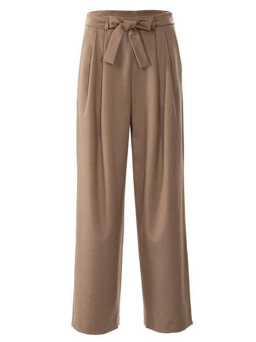 MARLEN'S TROUSERS WITH A TIE BELT 3