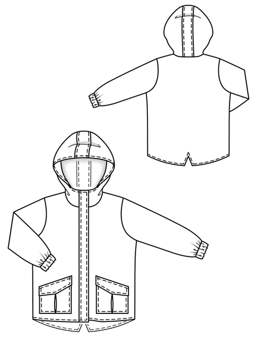 PARK WITH HOOD AND POCKET POCKETS 3