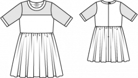 DRESS WITH A LUGE SKIRT 3