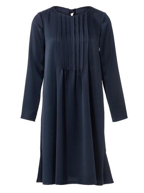 STRAIGHT CUT DRESS WITH STRAW WRINKLES 3