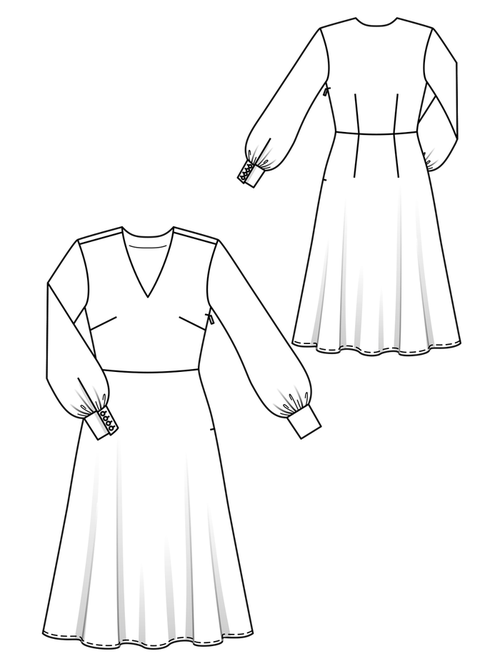 DRESS WITH FLASHED MIDDLE SKIRT 3
